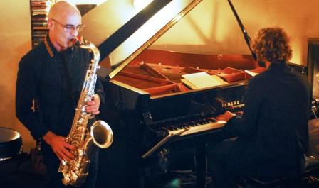 Jérôme Mathevon (piano) et Jean Charles Parisi (sax)